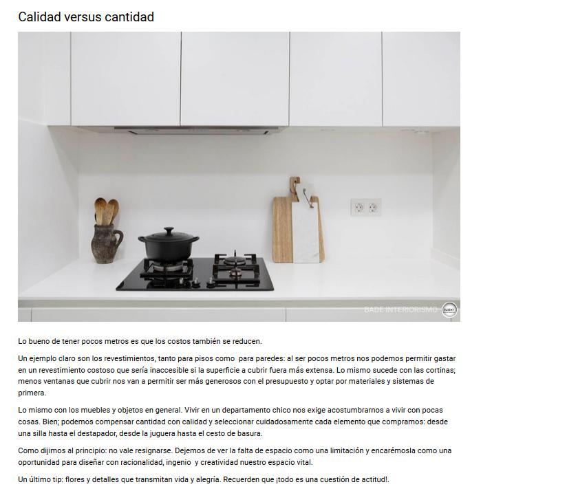 Publicación cocina Portuene Homify 2015